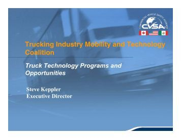 Truck Technology Programs and Opportunities, Steve Keppler ...