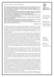 Rundbrief Dezember 2008 bis Februar 2009 - Haus der Stille