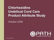 Chlorhexidine Product Attribute Study - Healthy Newborn Network