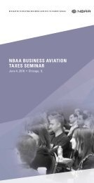 NBAA BUSINESS AVIATION TAXES SEMINAR