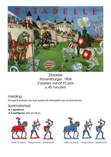 Zitadelle Ravensburger, 1954 2 spelers vanaf 10 ... - Forum Mortsel