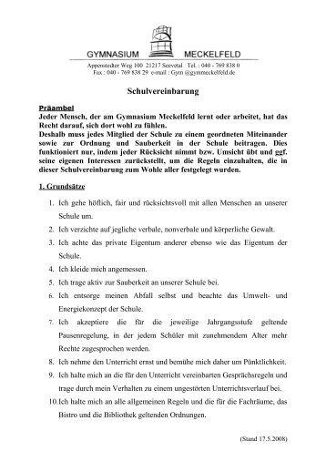 Schulvereinbarung - Gymnasium Meckelfeld