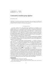 Commutative modular group algebras - Carpathian J. Math.