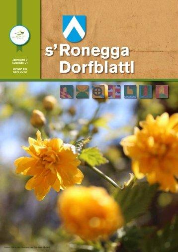 s'Ronegga Dorfblattl