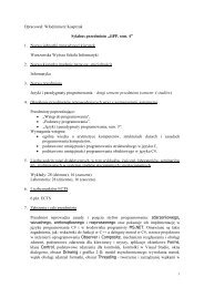 Języki i paradygmaty programowania, sem. 4