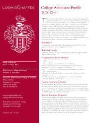 College Admission Profile 2010–11 - The Loomis Chaffee School