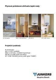 Plynové průtokové ohřívače teplé vody