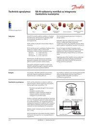 RA-N ventiliai su išankstiniu nustatymu - Danfoss