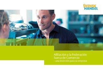 Afiliación a la federación sueca de comercio - Svensk Handel
