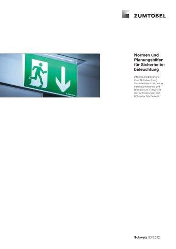 Normen und Planungshilfen für Sicherheits beleuchtung - Zumtobel