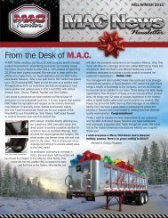 2010 Winter Newsletter - Mac Trailer