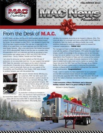 2010 Winter Newsletter - Mac Trailer