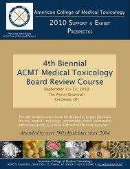 2010 ACMT BRC Prospectus - American College of Medical ...