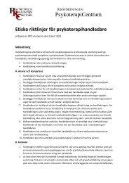 Etiska riktlinjer för psykoterapihandledare - Riksföreningen ...