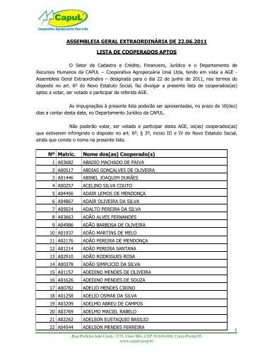 3 (SEGUNDO) ADITIVO AO TERMO DE COMPROMISSO ... - CAPUL