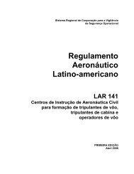 Regulamento Aeronáutico Latino-americano LAR 141 ... - ICAO