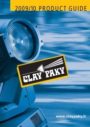 2009/10 PRODUCT GUIDE - Clay Paky