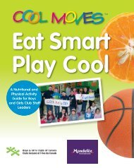 Cool Moves Activity Guide - Boys and Girls Clubs of Canada