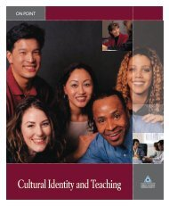 On Point: Cultural Identity and Teaching - NIUSI Leadscape