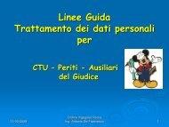 Linee Guida Trattamento dei dati personali per - Ordine degli ...