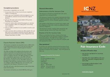 FAIR INSURANCE CODE 2011, Download the PDF