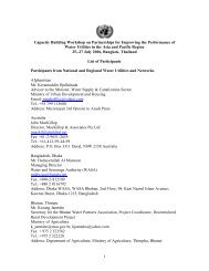 List of Participants - United Nations Sustainable Development