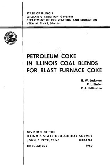 petroleum coke in illinois coal blends for blast furnace coke