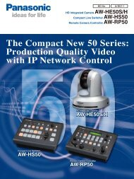 panasonic aw-hs50n hd/sd live switcher product manual