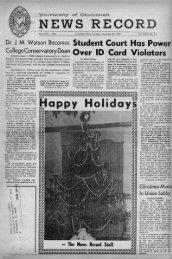 University of Cincinnati News Record. Thursday, December 20 ...