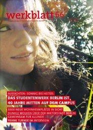 werkblatt 66 - Studentenwerk Berlin