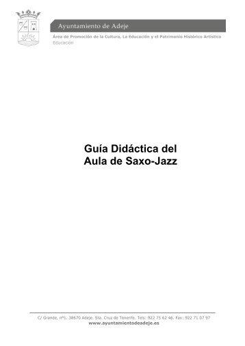 Guía Didáctica del Aula de Saxo-Jazz