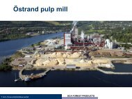 Östrand pulp mill - SCA Forest Products AB