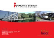 Training Calendar - NCOSS