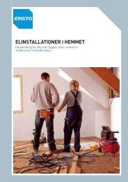 ELINSTALLATIONER I HEMMET – Handledning för Dig ... - Elot