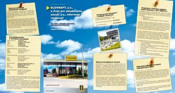 Kľačany (pdf, 1.9 MB) - Slovnaft