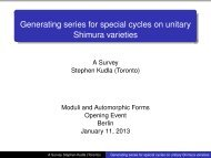 Generating series for special cycles on unitary Shimura varieties