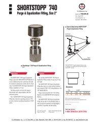 SHORTSTOPP® 740 Purge & Equal Fitting - T.D. Williamson, Inc.