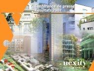 05-03-2008 - Résultats annuels 2007 (.pdf 1.72 Mo) - Nexity