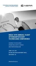 2011 NBAA Flight Attendants/Flight Technicians Conference ...