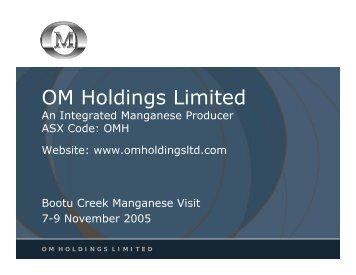 Markets - OM Holdings Ltd