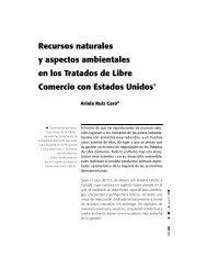 Recursos naturales y aspectos ambientales en los Tratados de ...
