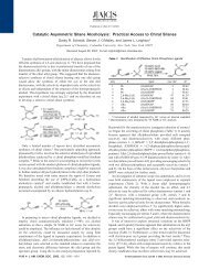 Catalytic Asymmetric Silane Alcoholysis: Practical Access ... - PageOut