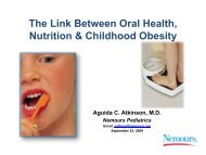 The Link Between Oral Health, Nutrition & Childhood ... - Nemours
