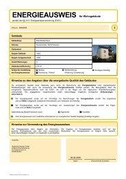 ENERGIEAUSWEIS für Wohngebäude - Stadtwerke Menden