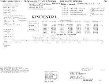 Hamilton County Property Card Indiana