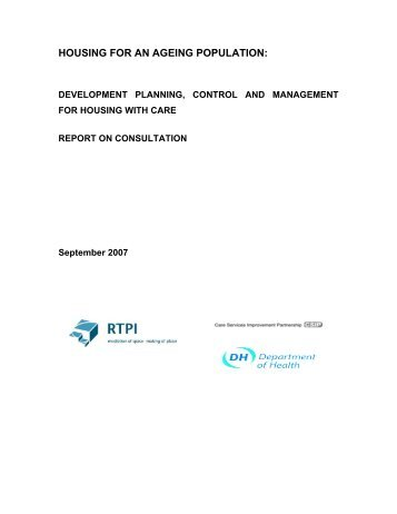 Consultation Report - Royal Town Planning Institute