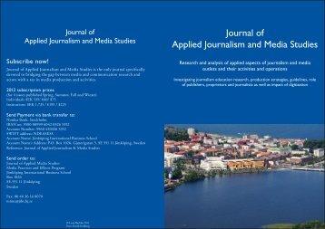 Journal of Applied Journalism and Media Studies - Vula - University ...