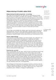 Miljøvurdering af ForskEL-udbud 2010 - Energinet.dk