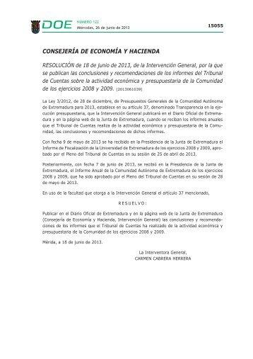CONSEJERÍA DE ECONOMÍA Y HACIENDA - Diario Oficial de ...