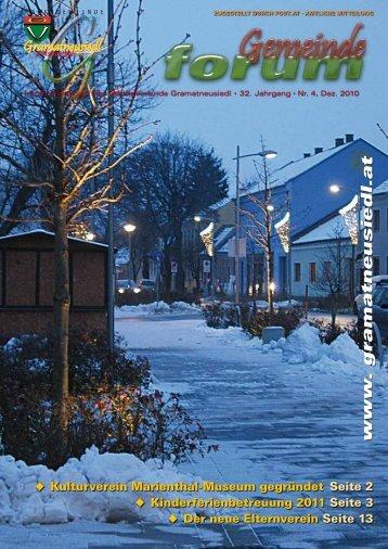 Gemeindeforum 4/10 (5,28 MB) - Marktgemeinde Gramatneusiedl